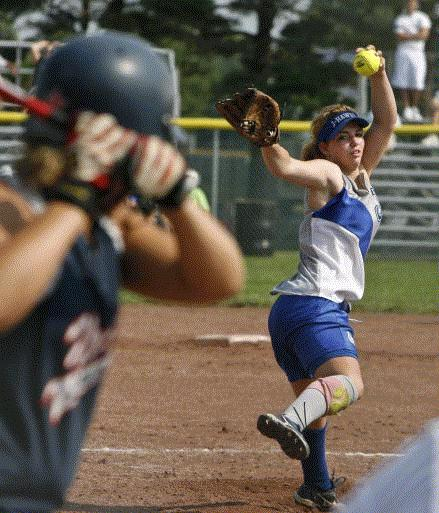 Cedar Rapids Jefferson's Hannah Petersen was a 4A first-team all-state pitcher as an eighth-grader.